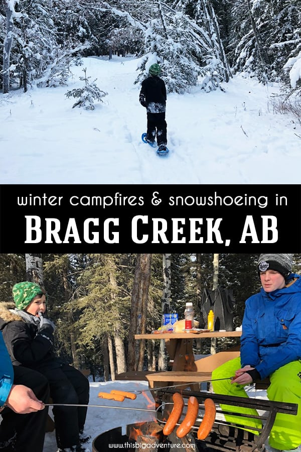 Winter Campfires and Snowshoeing in Bragg Creek, AB
