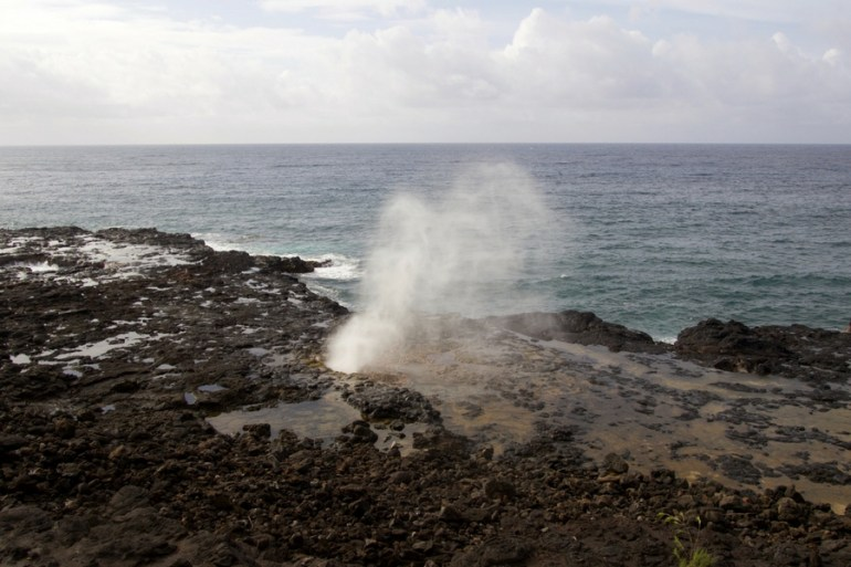 Image of Spouting Horn Blowhole on the Southern part of Kauai, near Poipu.