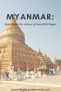 Image of Schwezigon Pagoda in Bagan Myanmar for Pinterest.