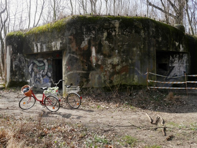 Image of a bunker on the Slovakia- Austrian border, a remnant of the conflict.