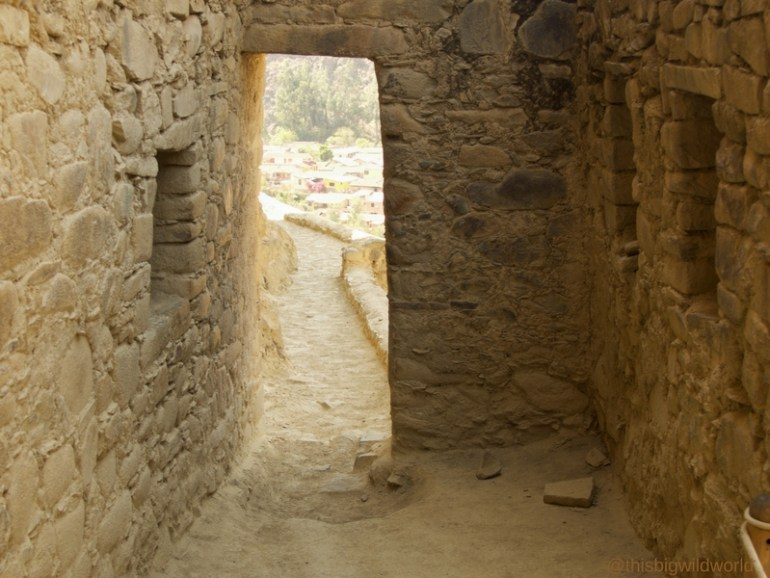 Image of a doorway in the ruins at Ollantaytambo near Cusco.