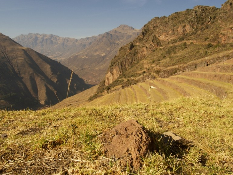Image of the ruins in Pisac in the Sacred Valley near Cusco.