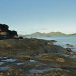 Image taken from the volcanic rock coastline of Nacula Island near Blue Lagoon Beach Resort in Fiji.