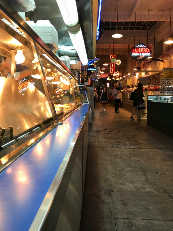 Image of walkway in Grand Central Market in downtown LA.