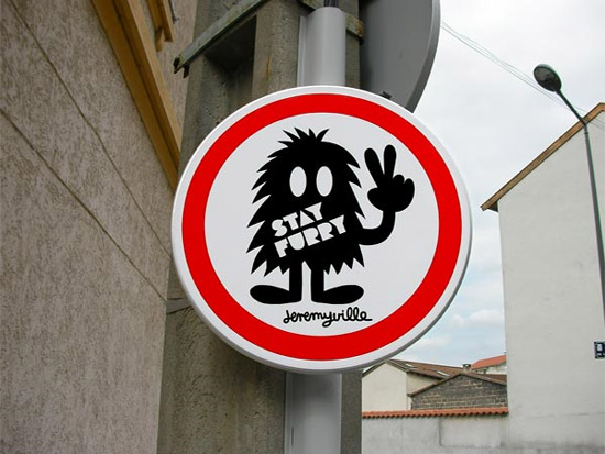 Comic Traffic Signs Popping Up All Over The City