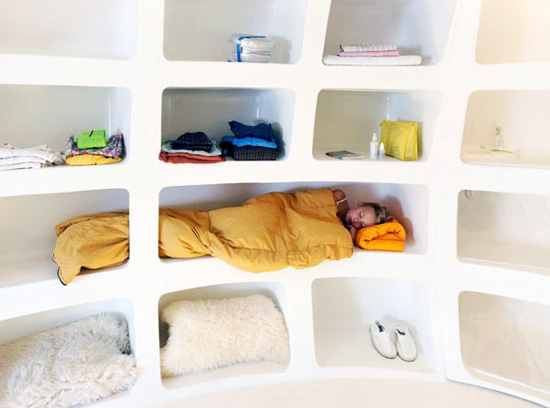 sleeping egg house