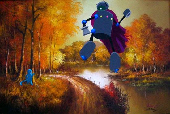 robot-monkey-autumn