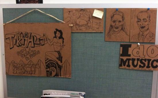 cardboard-bulletin-board