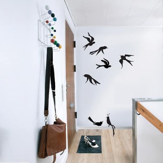 Birds on walls