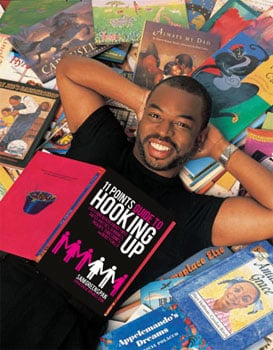 levar burton in book pile