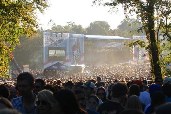 FreeFest giant crowd