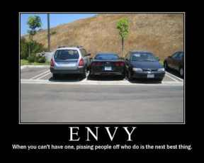 Demotivational Posters and Envy