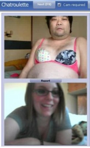 chat roulette screenshot fat weird man