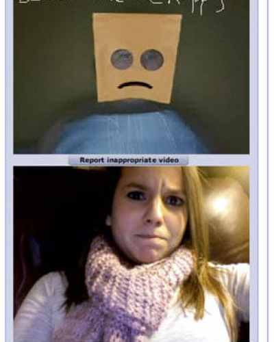 chat roulette screenshot funny paperbag