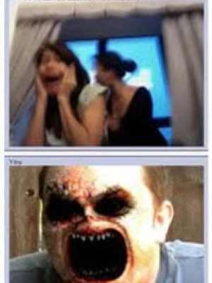 chat roulette screenshot scary