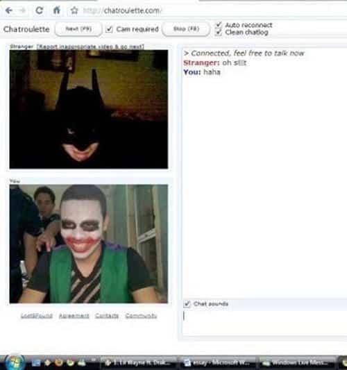 Chat Roulette Batman and Joker