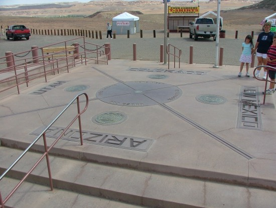 Tourist Attractions and Four Corners Monument, USA