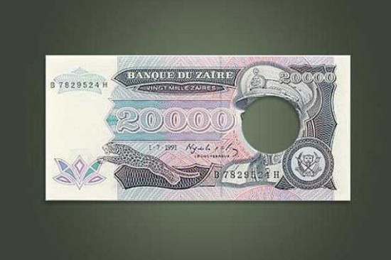 The Silly Missing Face Bank Note