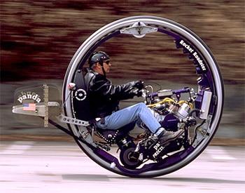 Strange Methods of Transport and the Monowheel