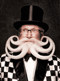 Exuberant Facial Hair, Beards and Moustaches