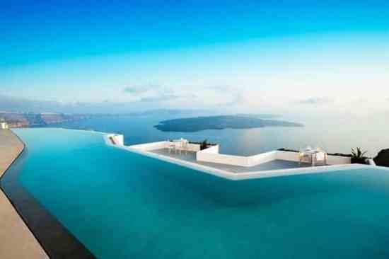 Swimming Pools and The Atlantis Infinity Pool, Greece