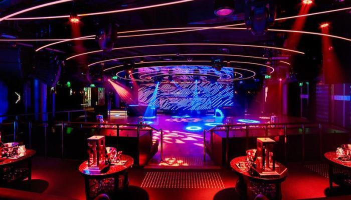 empty music club