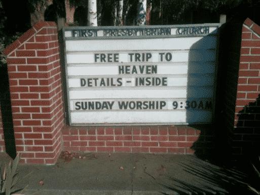 Strangest Church Signs