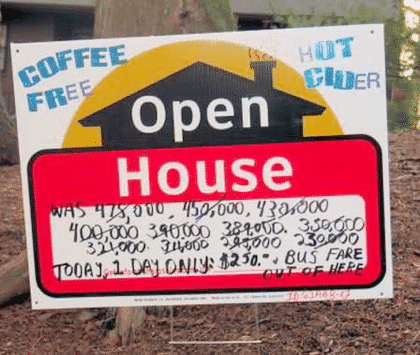 Crazy House for Sale Signs