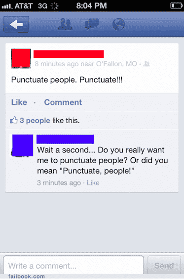 Punctuation Fails and the Grammar Police