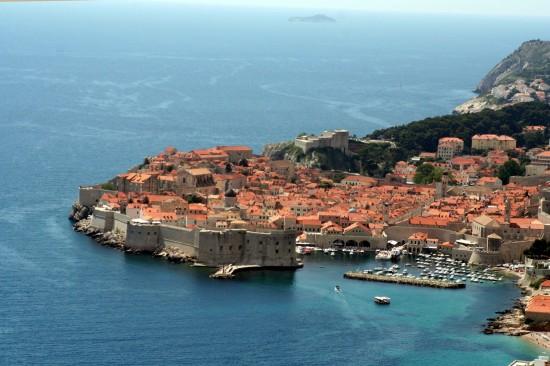 Croatia Dubrovnik. Ancient City Walls