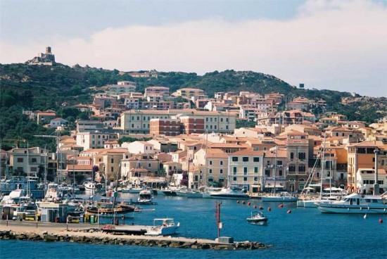 La Maddalena is an Italian coastal town