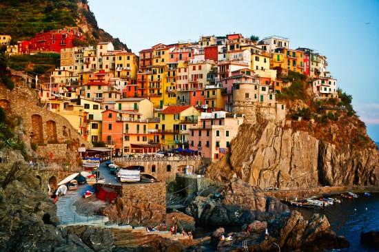 Manarola is an Italian coastal town