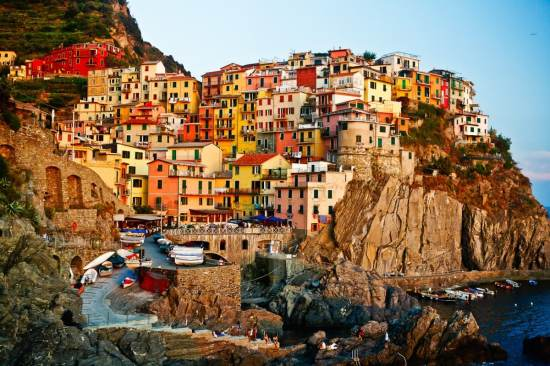 Manarola is an Italian coastal town