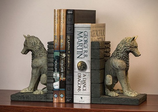 Stark-Direwolf-Bookends