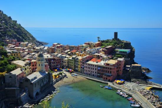 The Italian coastal town of Vernazza