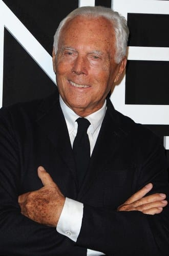 armani most influential fashion designers