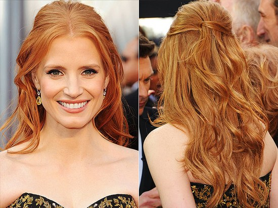 jessica chastain hair color