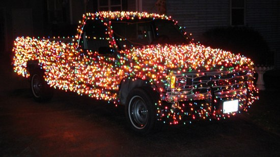LED Christmas Lights jingle cars