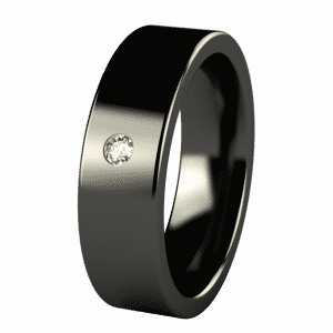 Mens Black Platinum Wedding Bands