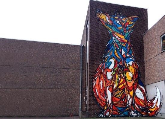 geometrical animal street art