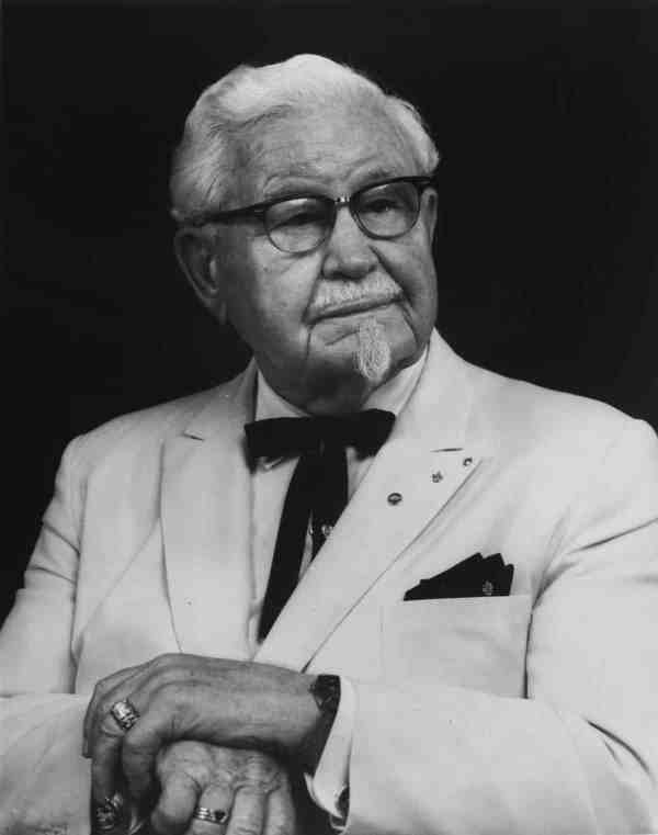 The real-life Colonel Harlan David Sanders is the man behind the chicken.