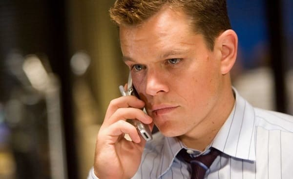 One of the 6 iconic Matt Damon roles is that of Collin Sullivan, pictured here talking on the phone.