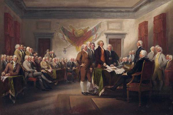 It is well known that Franklin was among the ones who signed the Declaration of Independence.