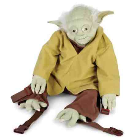 One of the top 15 best Star Wars toys is the Yoda backpack.