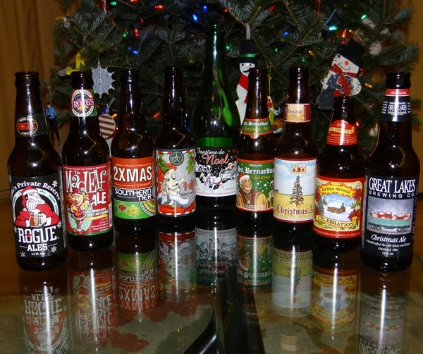 The list of 6 winter holiday drinks includes Christmas Brews like those present in the photo.