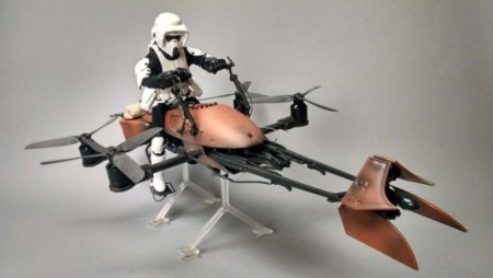 The speeder bike is one of the top 15 best Star Wars toys of all time.