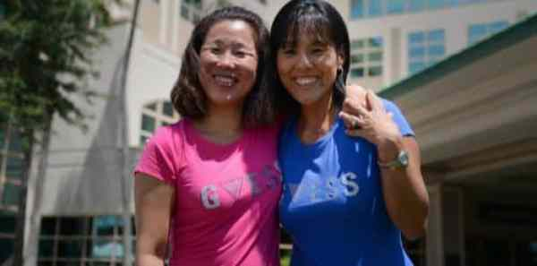 The two South Korean sisters were reunited by an incredible coincidence.