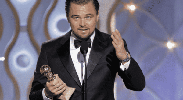 Leonardo DiCaprio had a terrific night after winning the Best Actor prize.