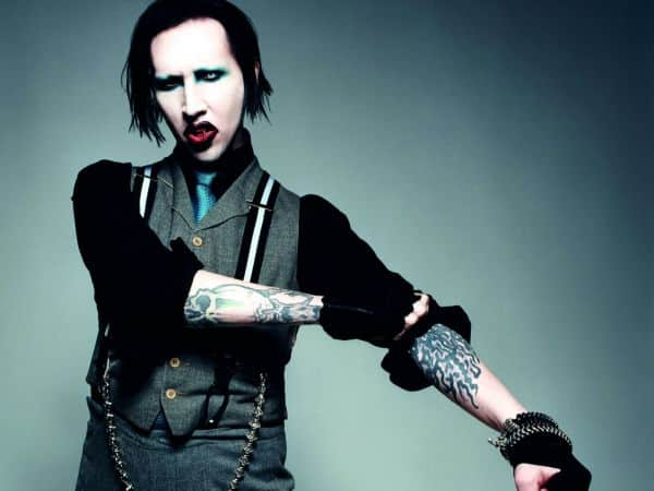 The top musicians from the past that are still active today include Marilyn Manson.