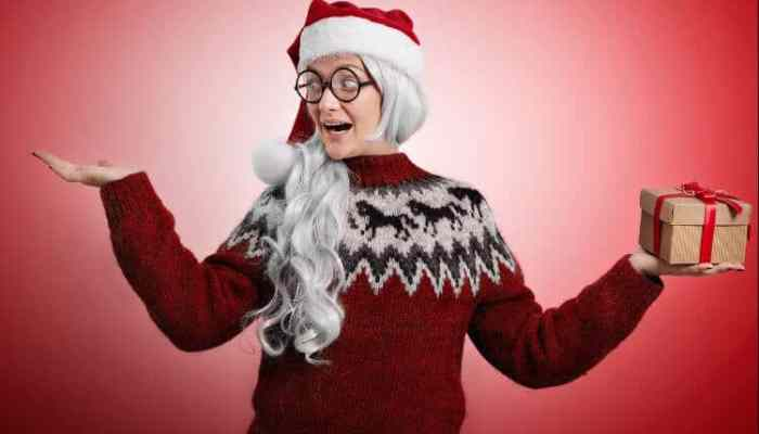 best ugly christmas sweater girl dressed up
